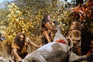 Diorama les chasseurs de la préhistoire
