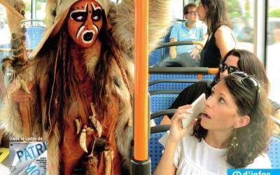 Journées du Patrimoine 2015. L'Homme de Tautavel prend le bus.