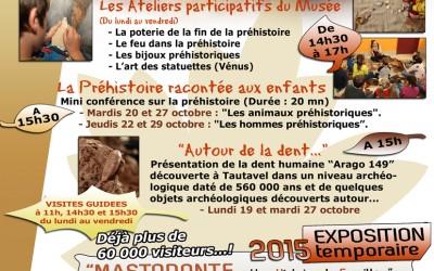 Autour de la Dent de Tautavel…Un voyage de 560.000 ans pour les vacances d'automne.