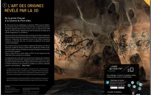 De la Grotte Chauvet, à la Caverne du Pont d'Arc, l'Art des Origines révélé par la 3D...