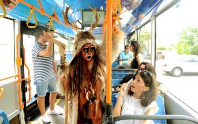 """Journées du Patrimoine: L'Homme de Tautavel """"Reprend le bus""""."""