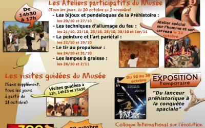 Vacances d'Automne, au Musée de Préhistoire de Tautavel…