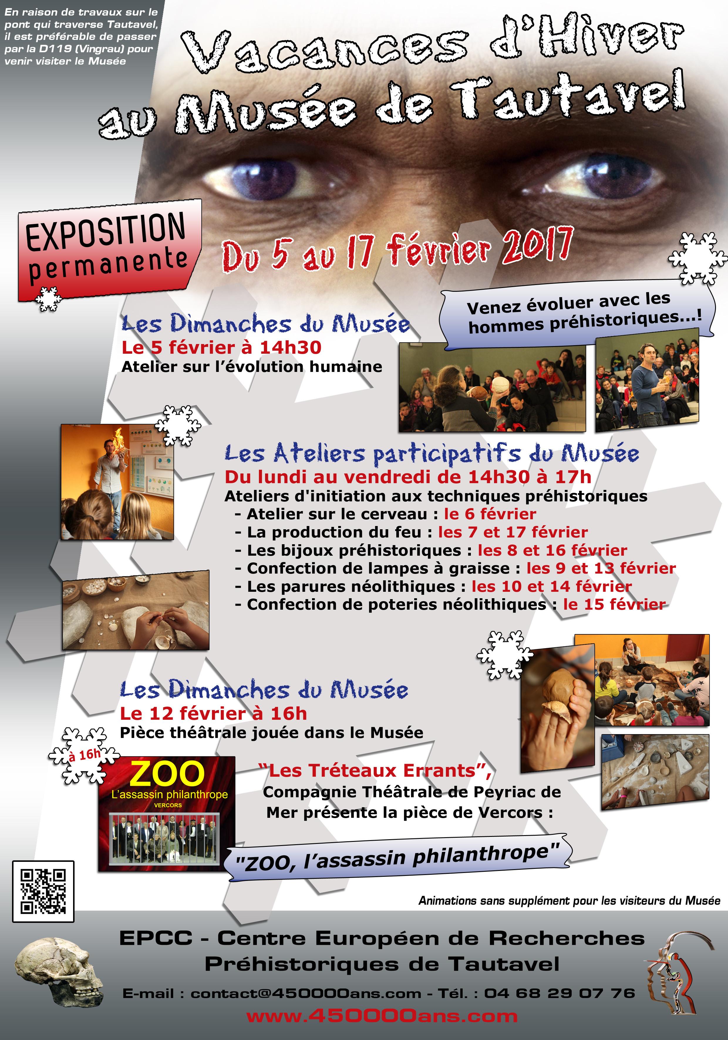Vacances d'hiver au Musée de Préhistoire de Tautavel