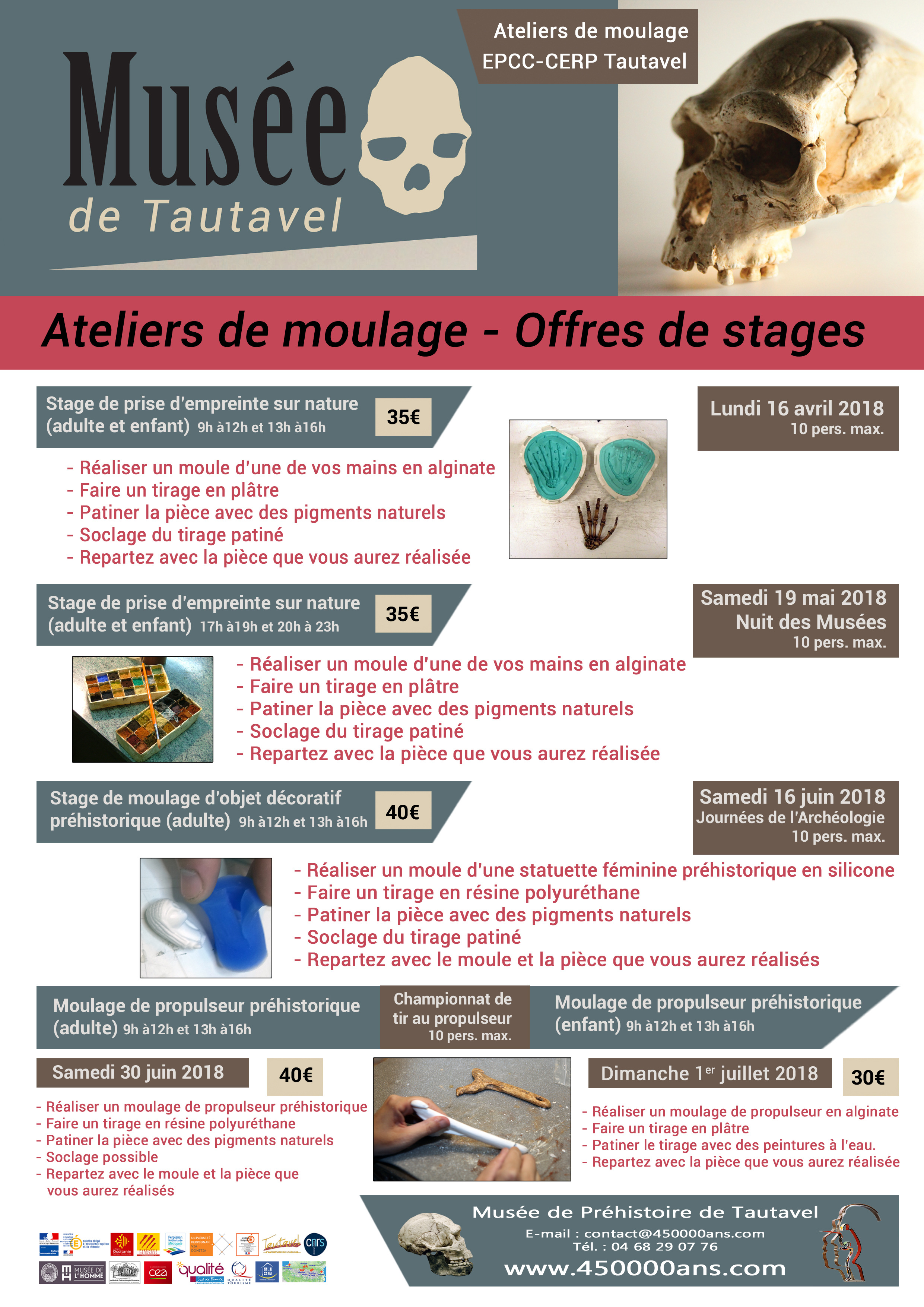 Stages moulage Atelier de Tautavel