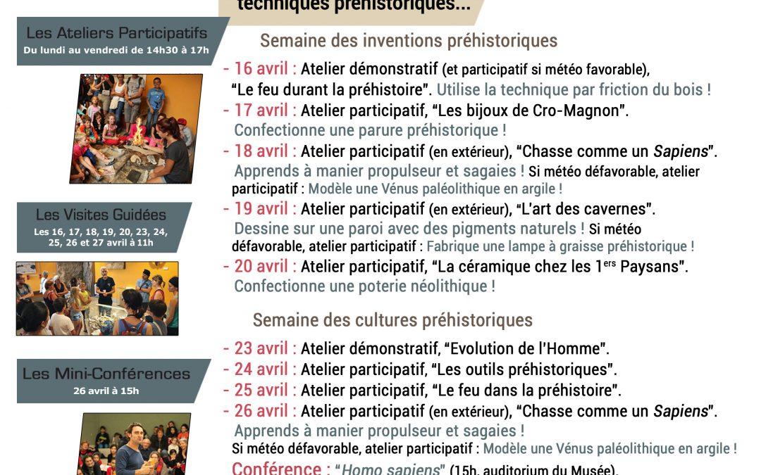 Les Vacances de Printemps au Musée de Préhistoire de Tautavel.