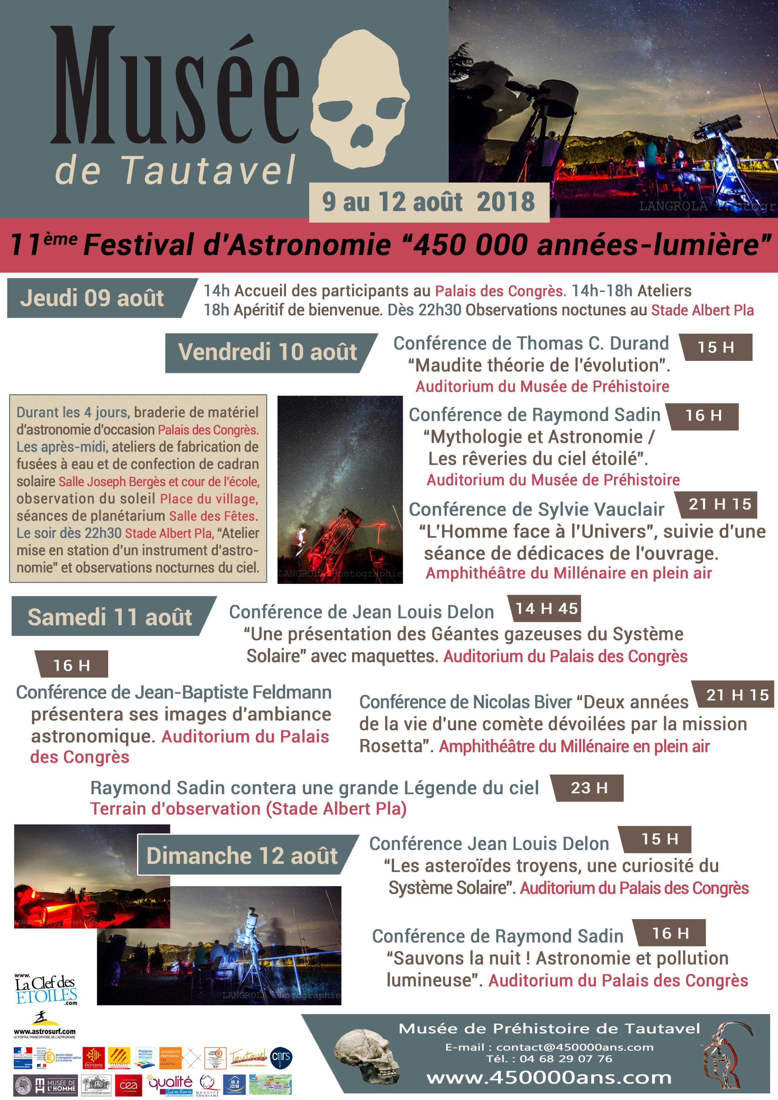 Festival astronomie de Tautavel 2018