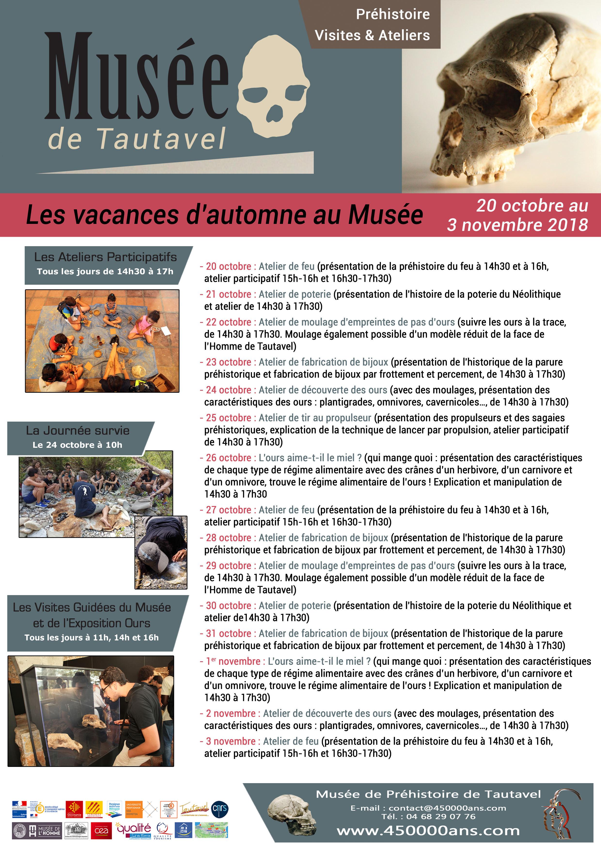 Vacances automne Musée de Tautavel