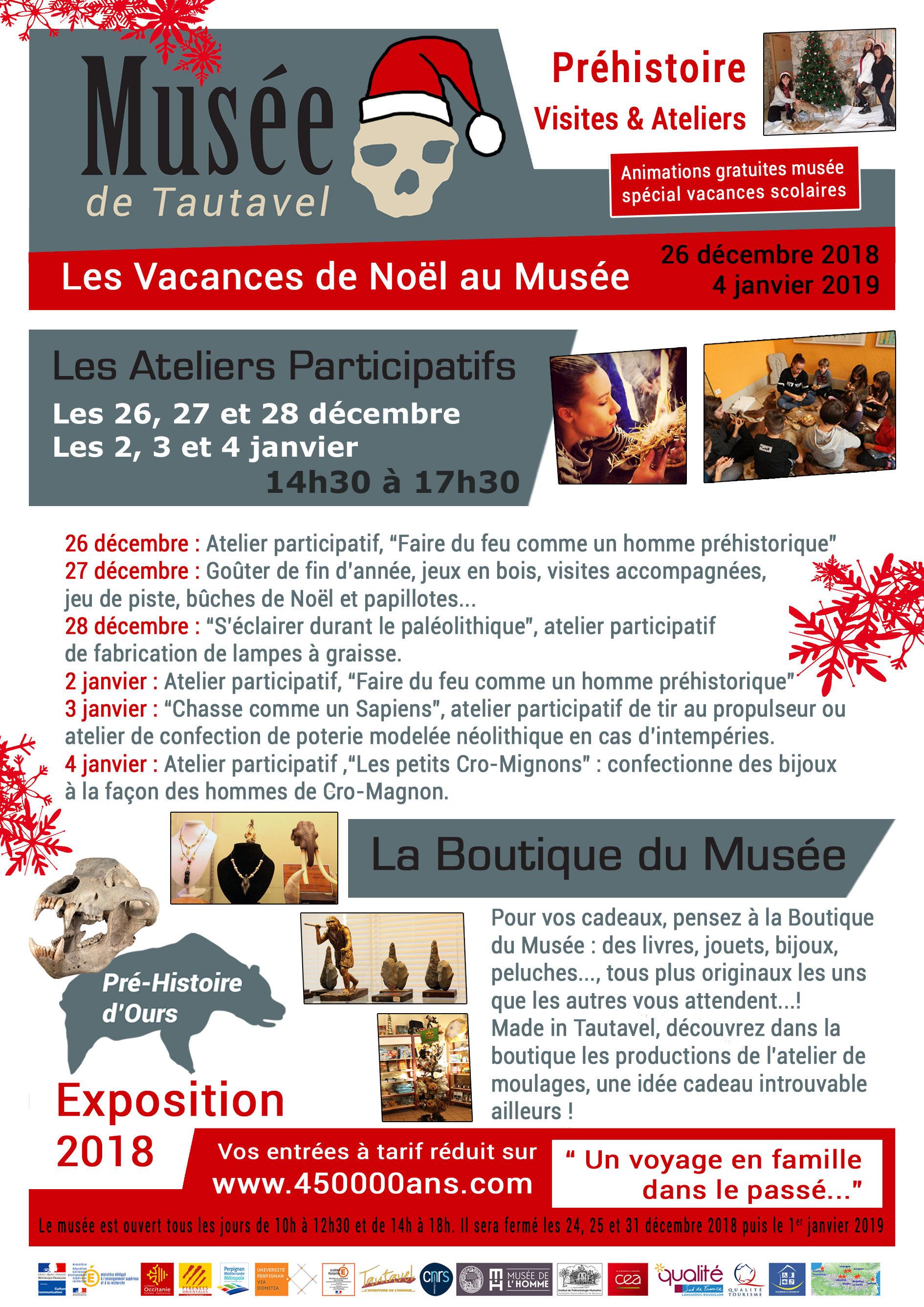 Programme vacances Noël 2018