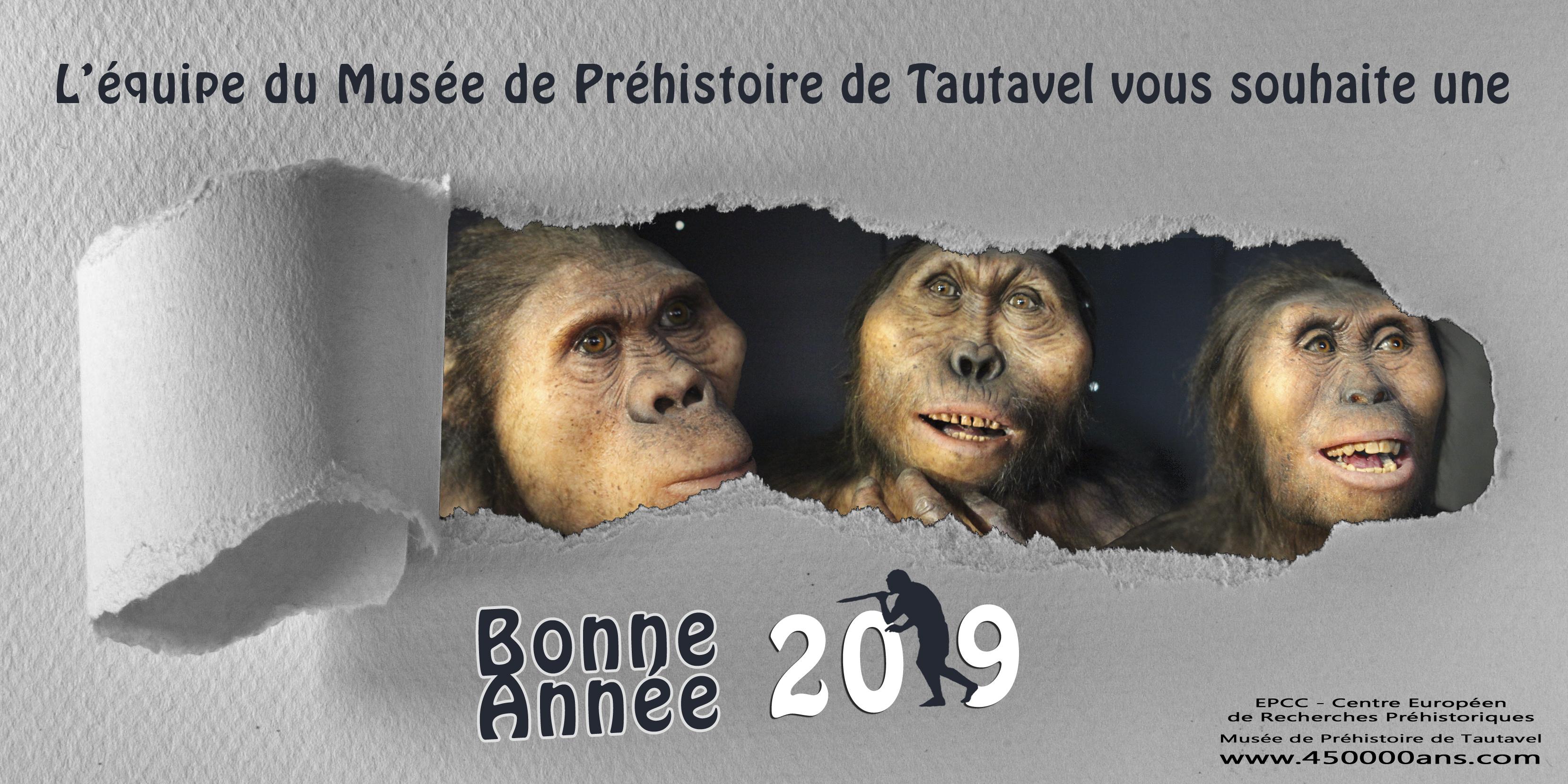 Vœux 2019 Musée de Préhistoire de Tautavel
