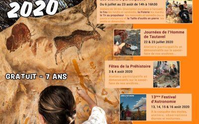Programme de l'été 2020 au Musée de Préhistoire de Tautavel