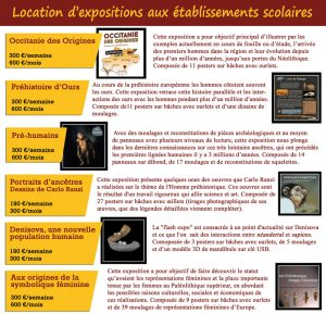 Location d'expo scolaire musée tautavel